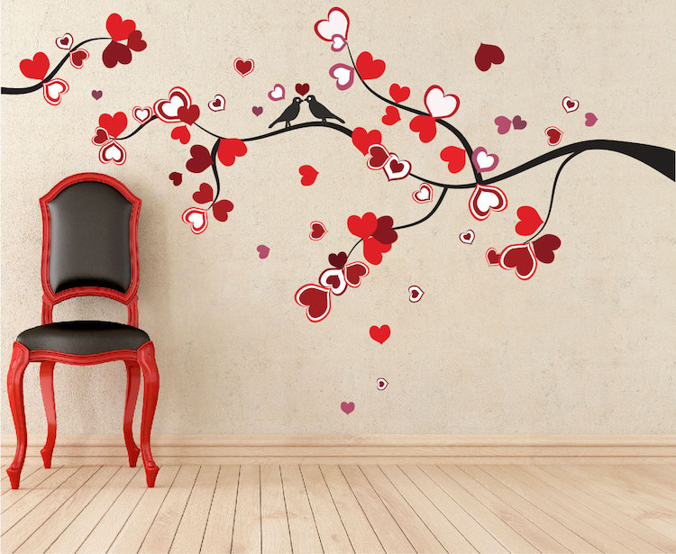 heart tree wall decal love murals primedecals - Wall Design Decals