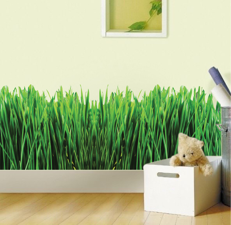 Quick View & Grass Wall Mural Decal - Garden Wall Decal Murals - Primedecals