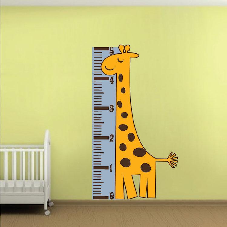 Giraffe Measuring Chart Wall Mural Decal
