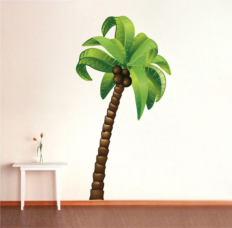 palm tree wall mural decal large wall decal murals primedecals. Black Bedroom Furniture Sets. Home Design Ideas