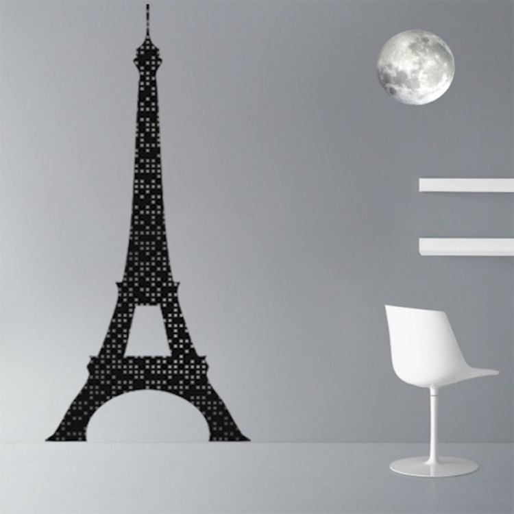 Eiffel tower lights wall mural decal france wall decal for Eiffel tower mural