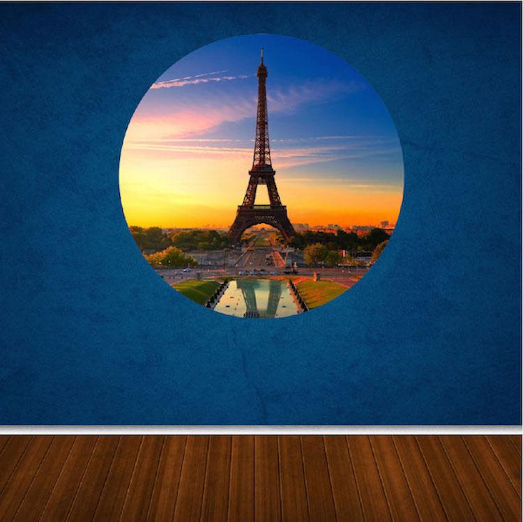 Eiffel Tower Wall Mural Decal Part 78