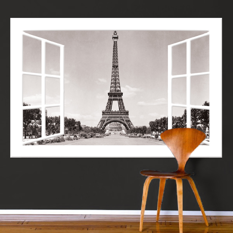 Wall Mural Decals paris window wall mural decal - france wall decal murals - primedecals