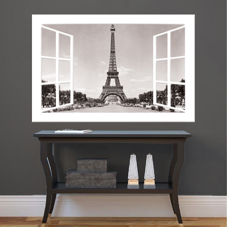 Vinyl Wall Murals paris window wall mural decal - france wall decal murals - primedecals