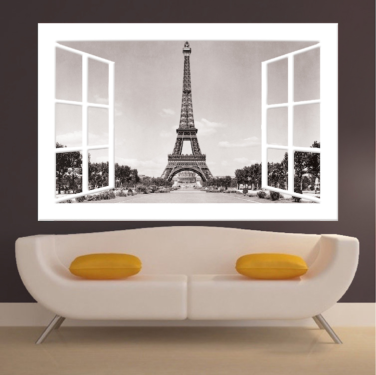 paris window wall mural decal france wall decal murals primedecals. Black Bedroom Furniture Sets. Home Design Ideas