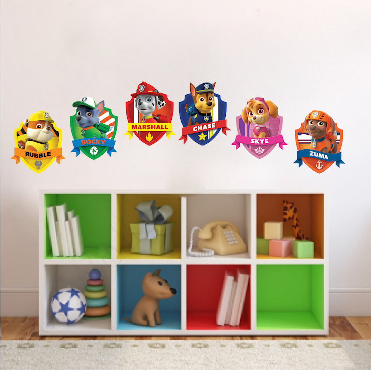 Paw Patrol Kids Wall Decal Decor - Paw Dog Birthday Party Theme ...