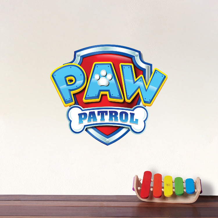 Paw Patrol Logo Wall Decal - Paw Patrol Kids Bedroom Wall Decal ...
