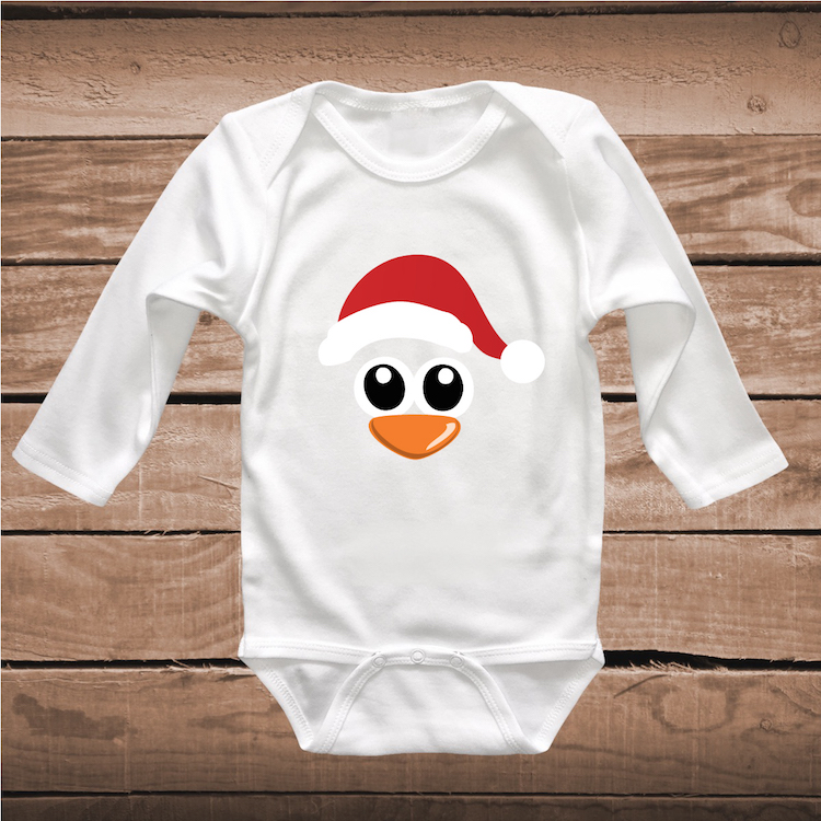 Penguin Shirt Holiday Tee Cute Penguin Onesie Christmas T