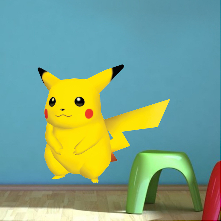 Pikachu Pokemon Kids Bedroom Wall Decal Pokemon Birthday