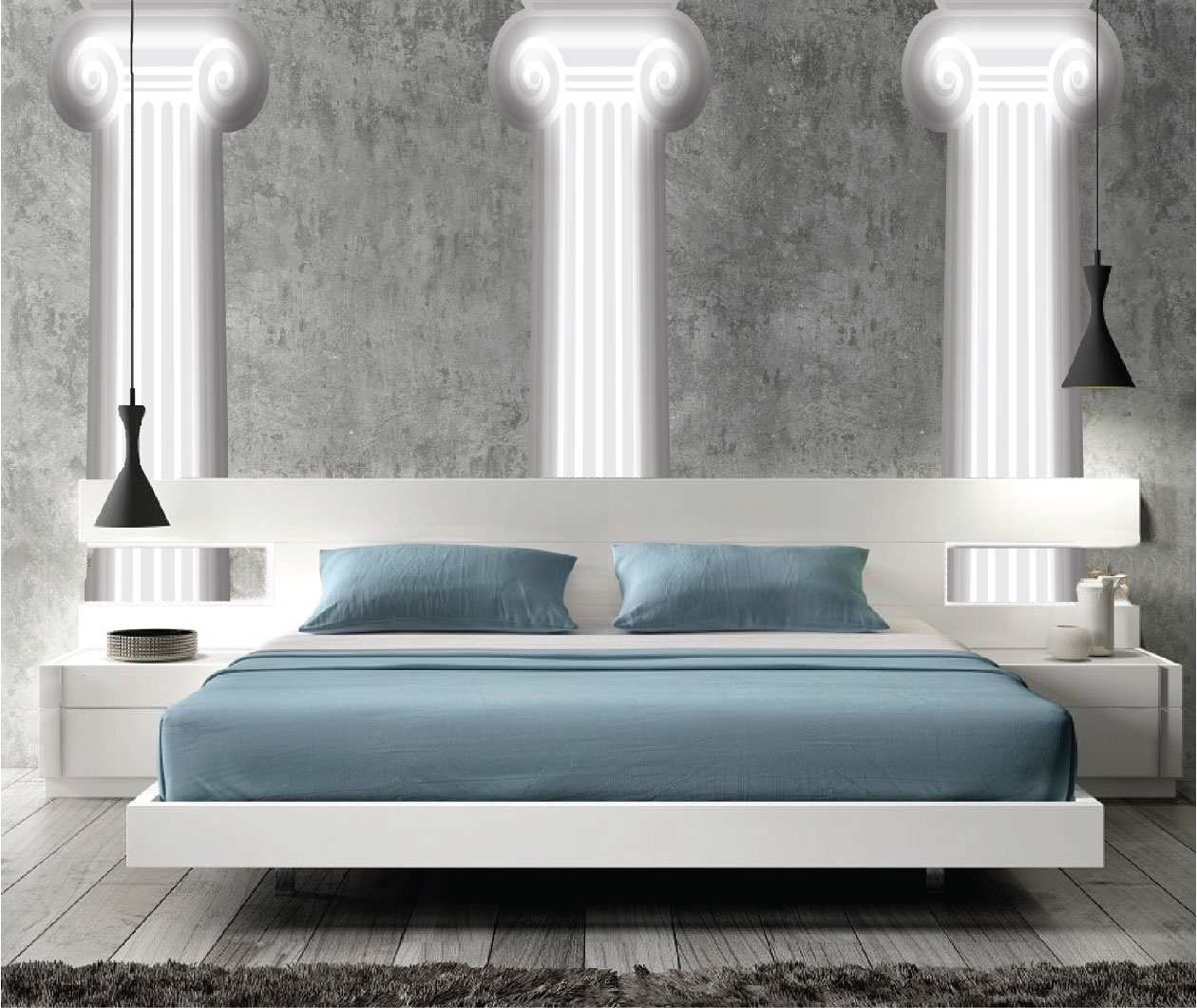 Design Wall Mural Decals pillar wall mural decal modern murals primedecals