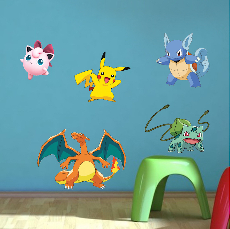 Pokemon Character Wall Graphics Pokemon Birthday Party