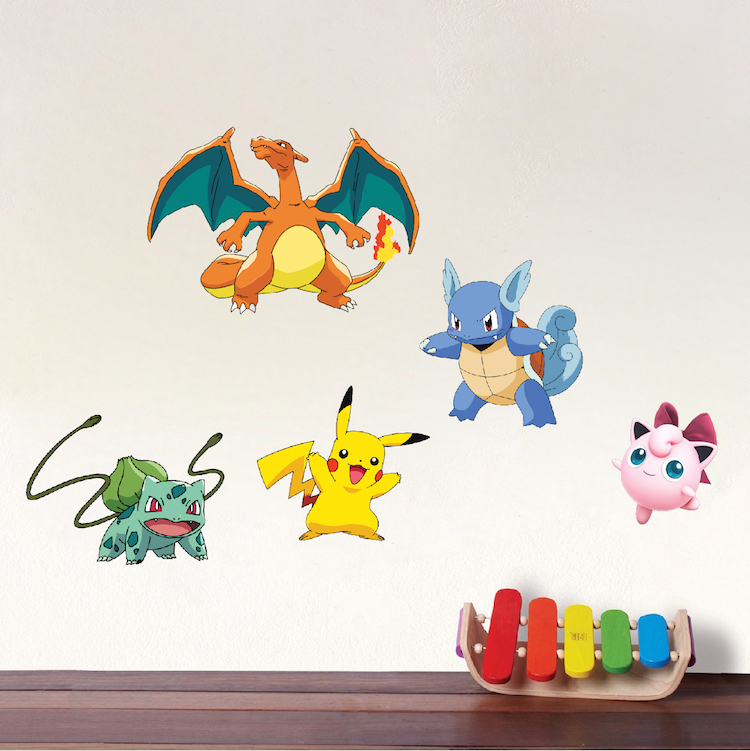 Pokemon Wall Decor pokemon character wall graphics - pokemon birthday party theme