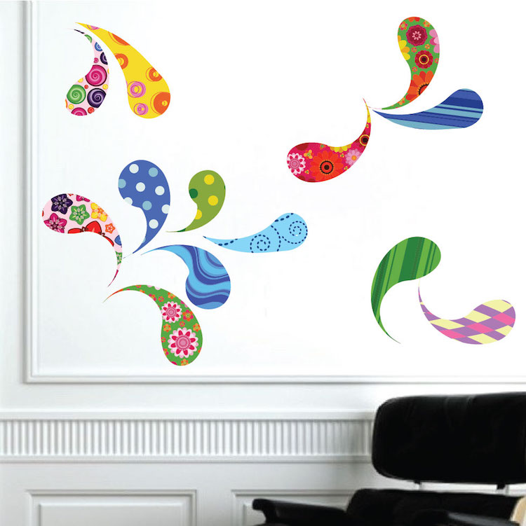 Quick View  sc 1 st  Prime Decals & Paisley Wall Decal - Abstract Wall Decal Murals - Primedecals