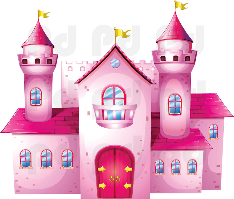 Castle Wall Decal - Girl Wall Decal Murals - Primedecals