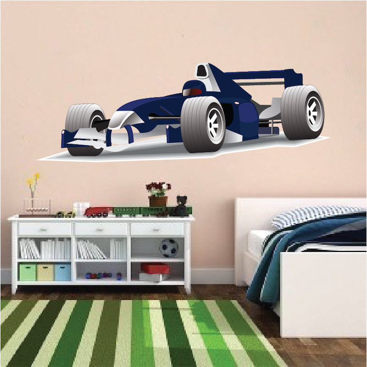 Race Car Wall Mural Decal