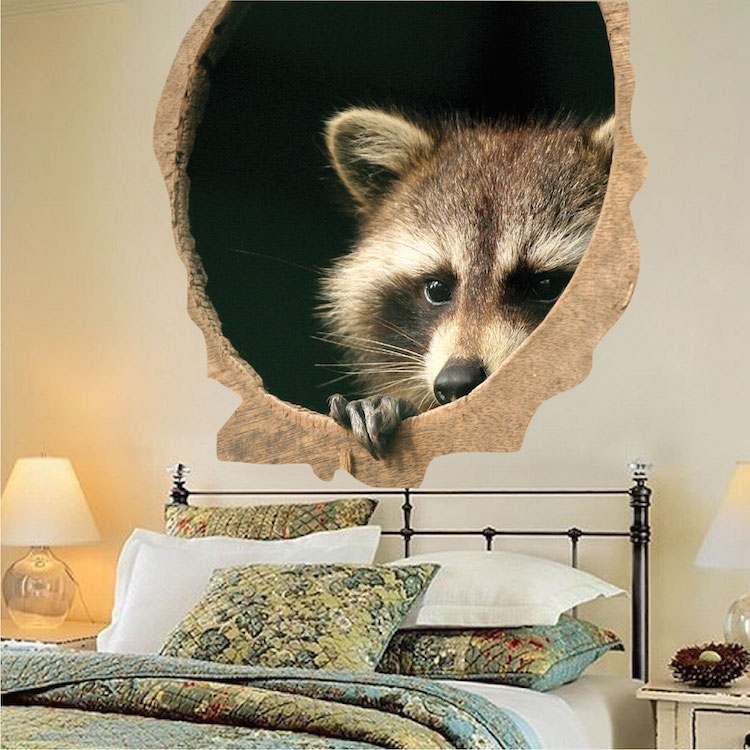 Raccoon Wall Decal Mural Animal Wall Graphics Primedecals