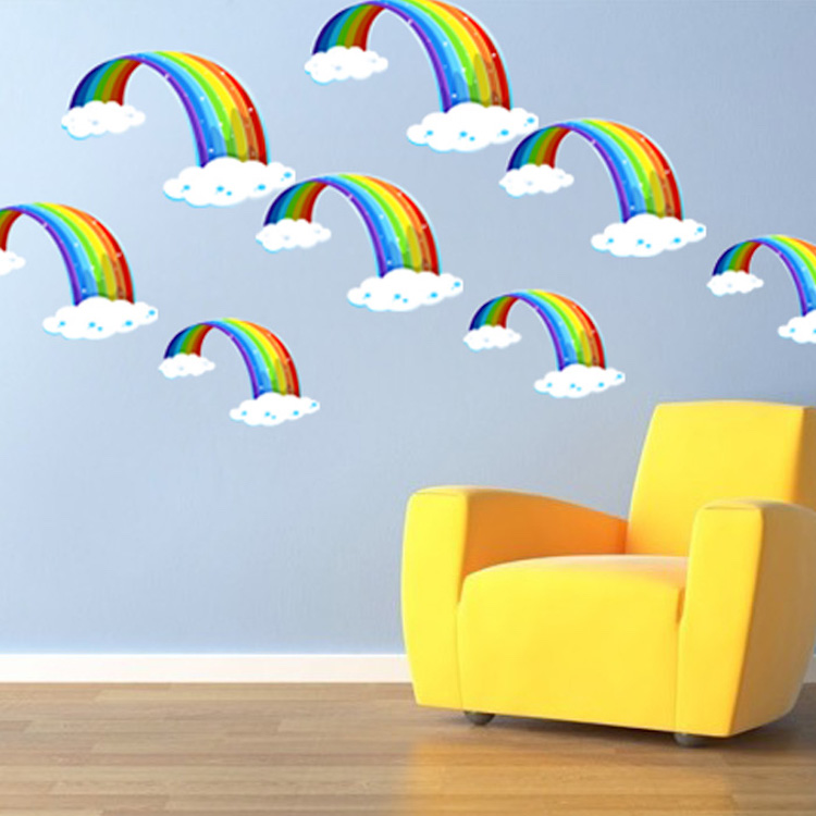 Home U003e Shop Wall Decals U003e All Decals U003e Nursery Rainbow Wall Mural Decal