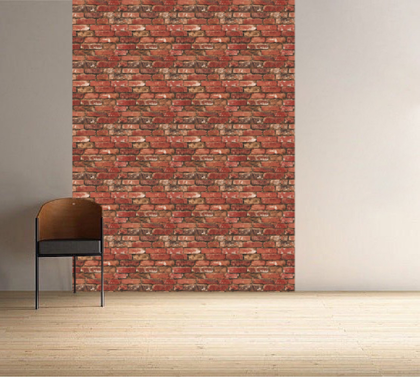 Red Brick Wallpaper Part - 36: Red Bricks Wallpaper Decal