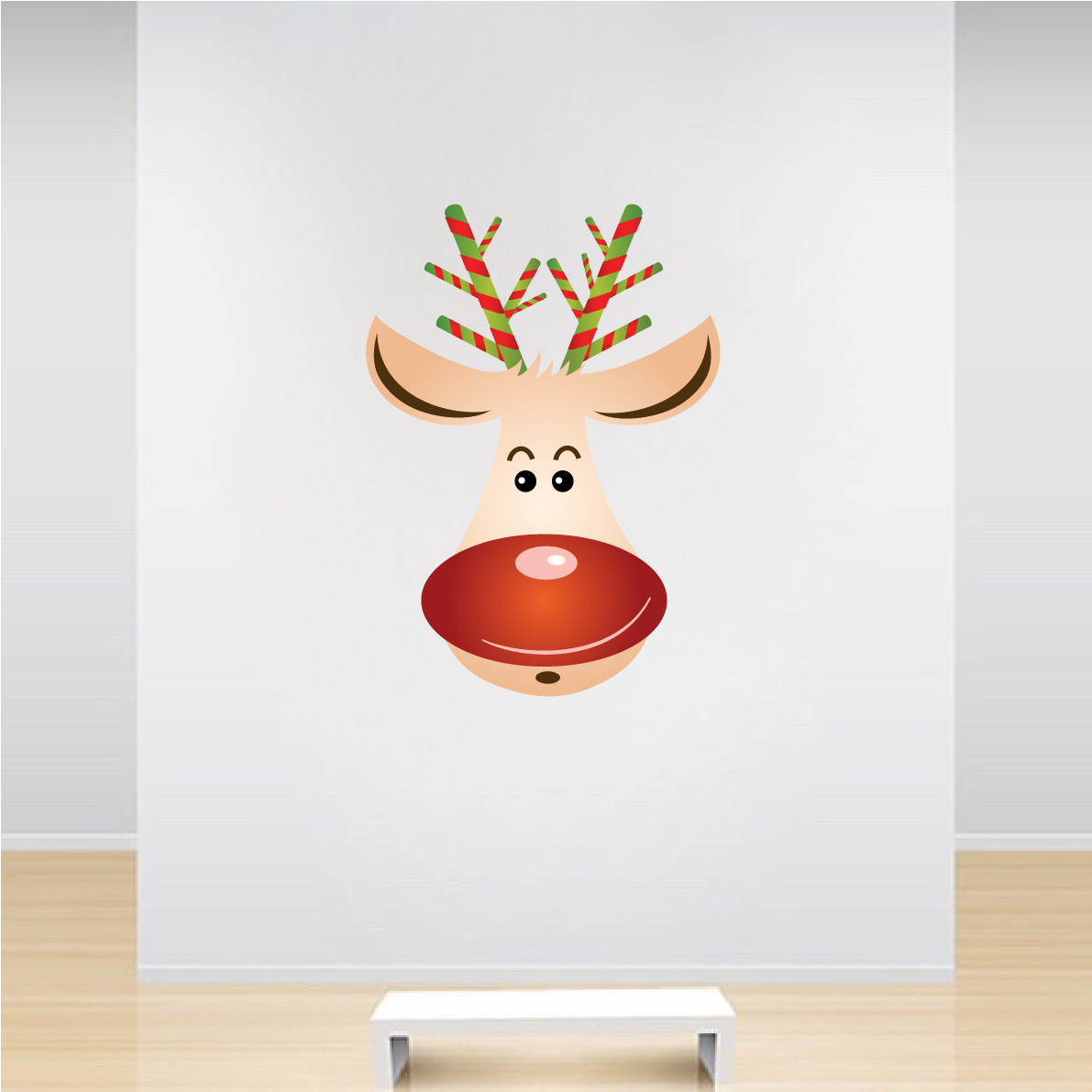 Rudolph The Reindeer Christmas Wall Decal