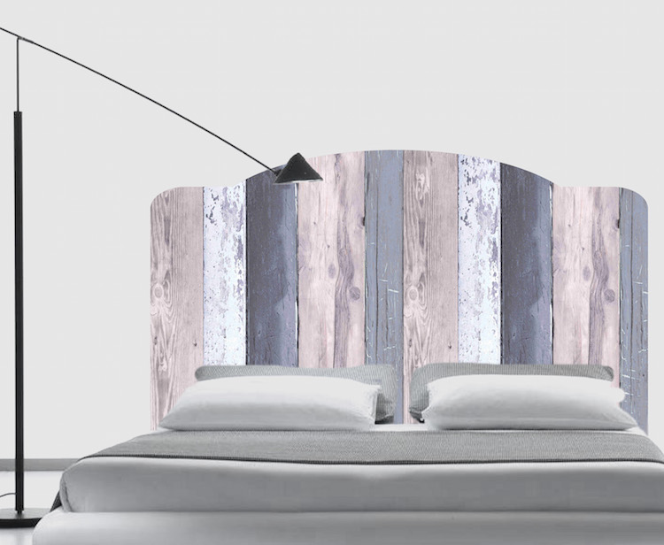 Bed headboard mural decal headboard wall decals for Mural headboard