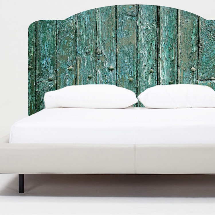 Rustic bed headboard mural decal bed headboards for Mural headboard