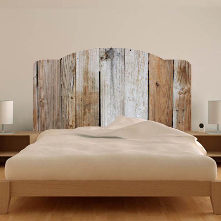 Rustic Bed Headboard Wall Mural Decal Bed Modern
