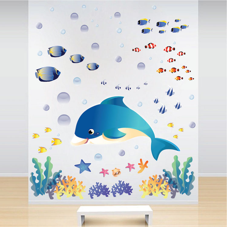 Under The Sea Wall Decals Fish Bedroom Stickers