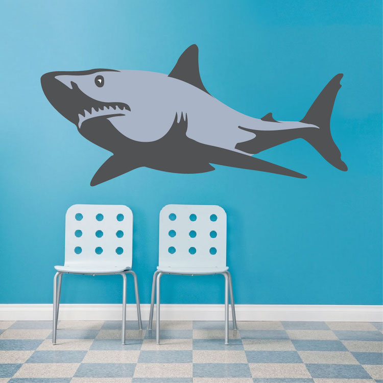 shark wall decal wall murals prime decals decorating theme bedrooms maries manor shark bedrooms