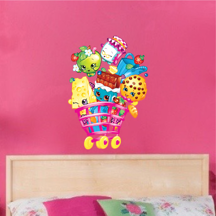 Home U003e Shop Wall Decals U003e All Decals U003e Girls Shopkin Bedroom Wall Decals
