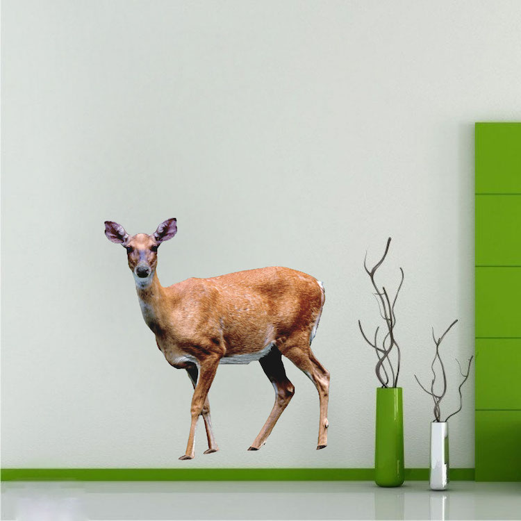 Deer wall mural decal wall adhesives primedecals for Deer mural wallpaper