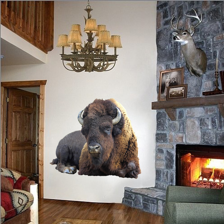Bison Wall Adhesive Decal Wall Decals Primedecals