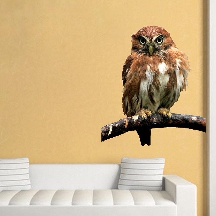 Owl Wall Decal Mural Animal Adhesives Primedecals
