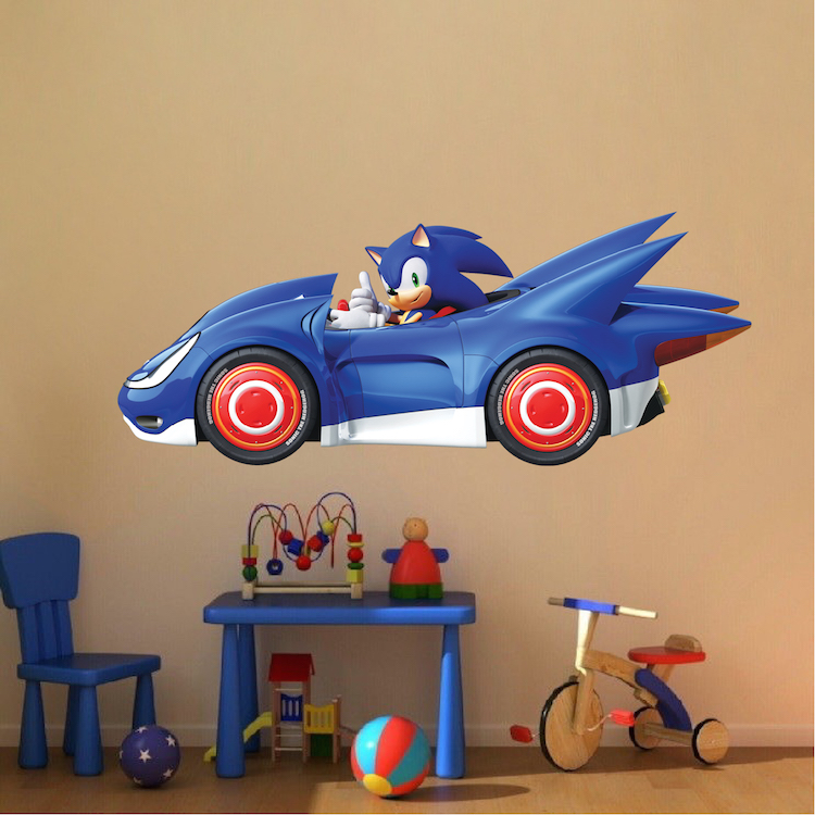 Sega Sonic Wall Decal Sonic The Hedgehog Wallpaper