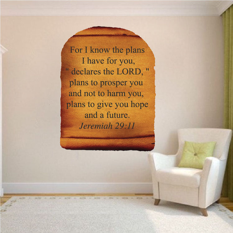 Scripture Scroll Wall Mural Decal   Scripture Wall Letters   Primedecals