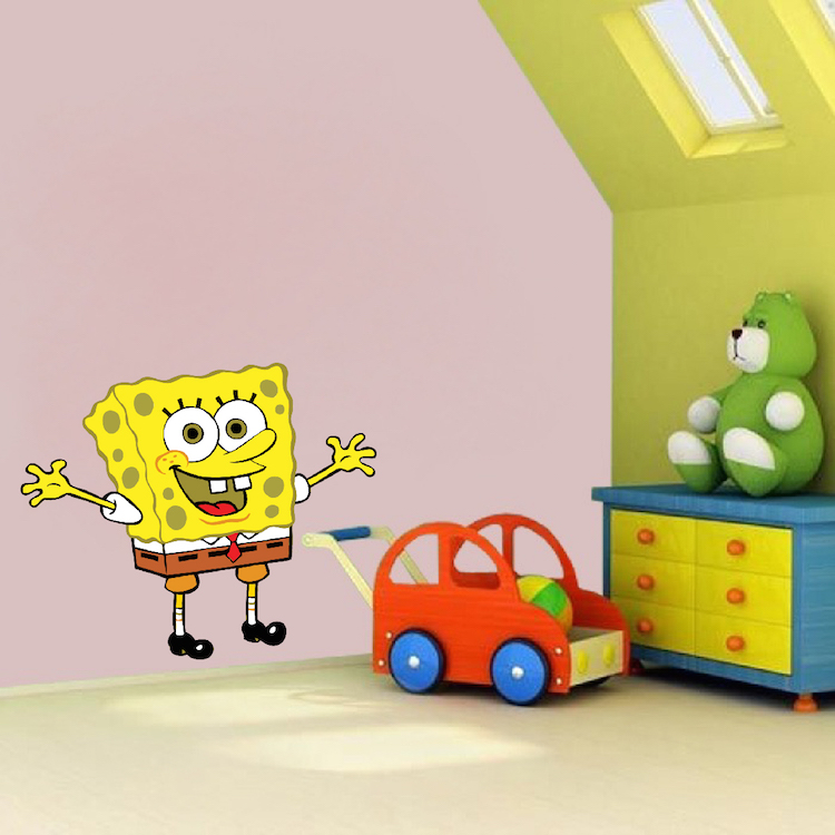Spongebob Bedroom Decal Mural - Spongebob Wall Stickers - Sponge ...