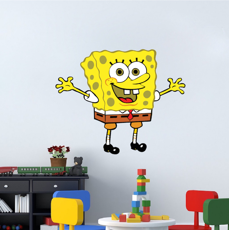 Spongebob Bedroom Decal Mural Spongebob Wall Stickers Sponge - Spongebob room decals
