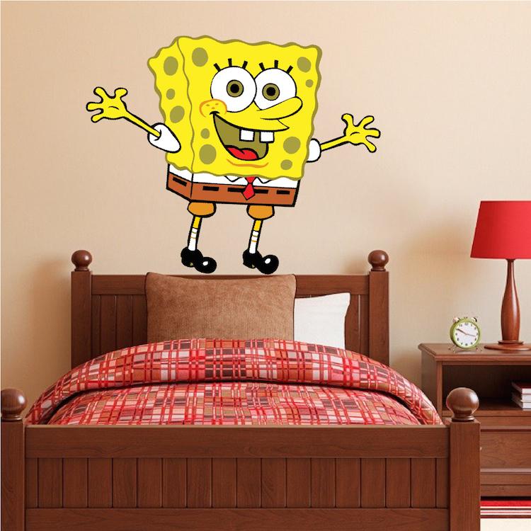 Spongebob Bedroom Decal Mural