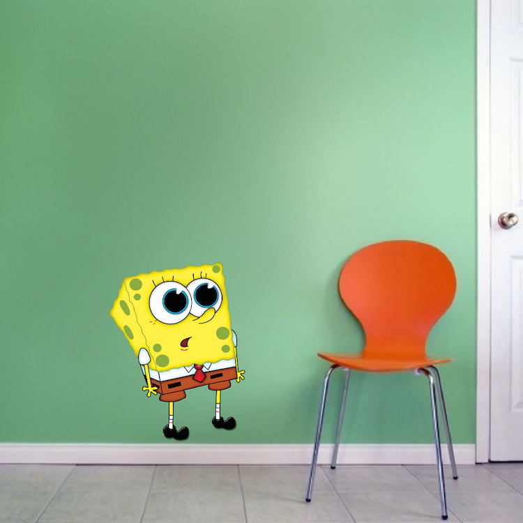 Spongebob Wall Stickers Sponge Bob Decals Cartoon Wall Decal - Spongebob room decals