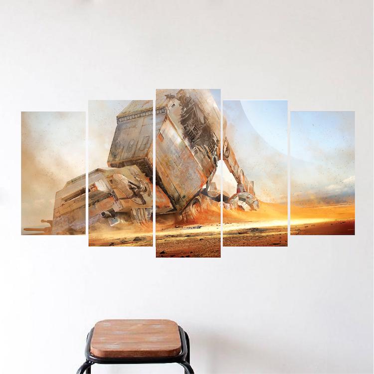 Unique wall panel decal vinyl mural wallpaper self for Mural unique
