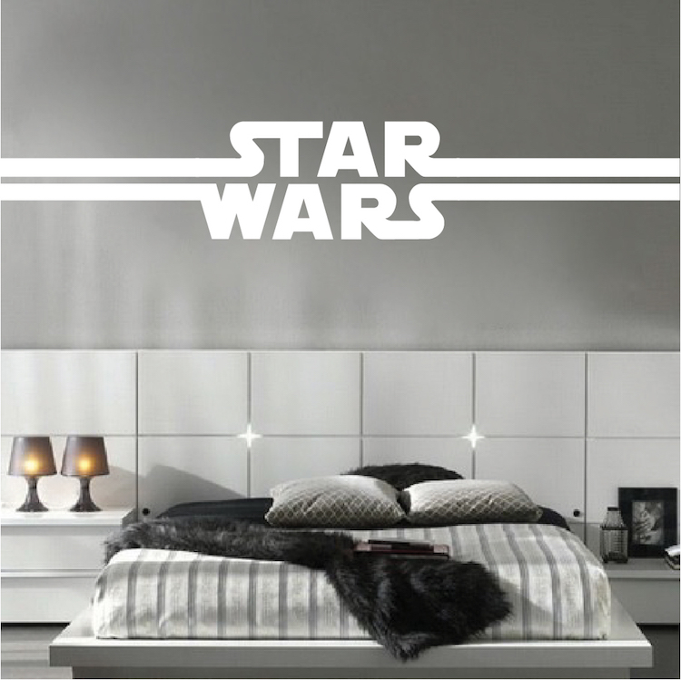 Awesome Boys Star Bedroom Wallpaper Mural Decal   Star Decal Wars Murals   Cool  Logo Wall Decals   Primedecals
