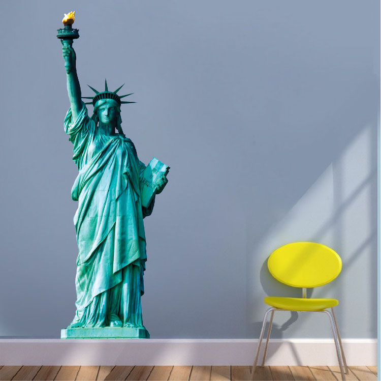 Perfect Statue Of Liberty Wall Mural Decal Great Ideas
