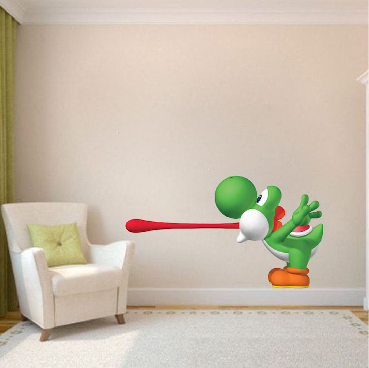 Yoshi Super Mario Wall Mural Decal