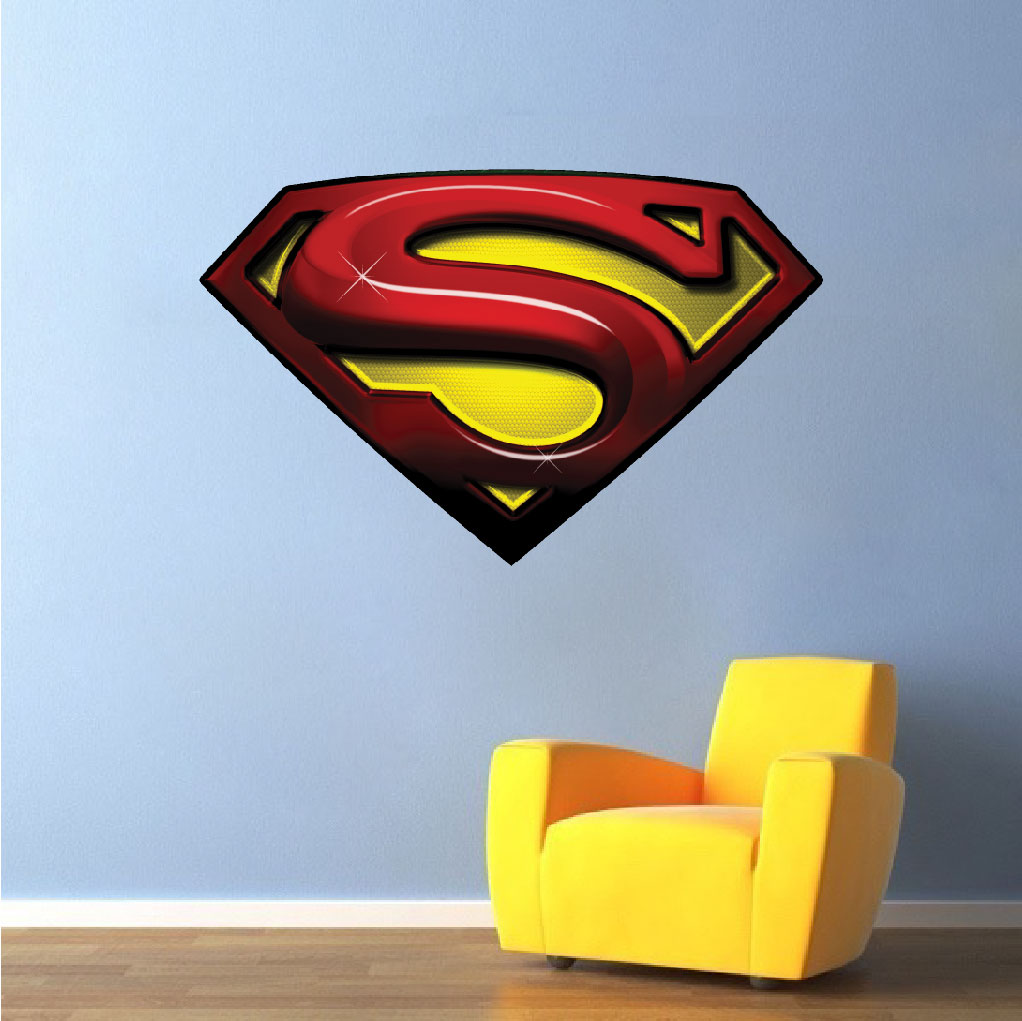 superman decal mural  super heroes wall decals  primedecals - home  shop wall decals  teens  superman decal mural