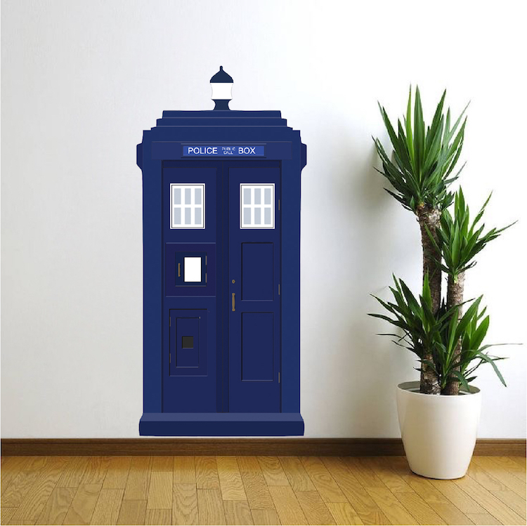 Attirant Dr. Who Tardis Vinyl Wall Decal