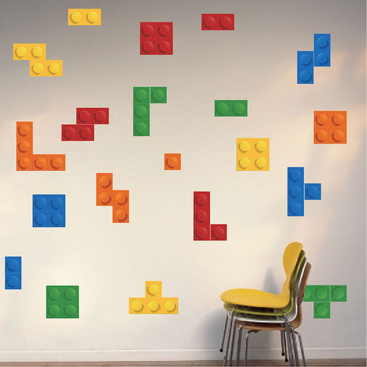 colorful game room wallpaper decal video game wall decor. Black Bedroom Furniture Sets. Home Design Ideas