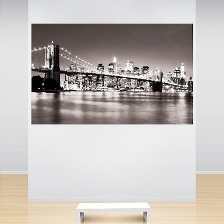 new york bridge mural decal view wall decal murals. Black Bedroom Furniture Sets. Home Design Ideas