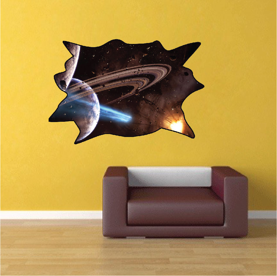 Outer Space Decal - Space Wall Decal Murals - Primedecals