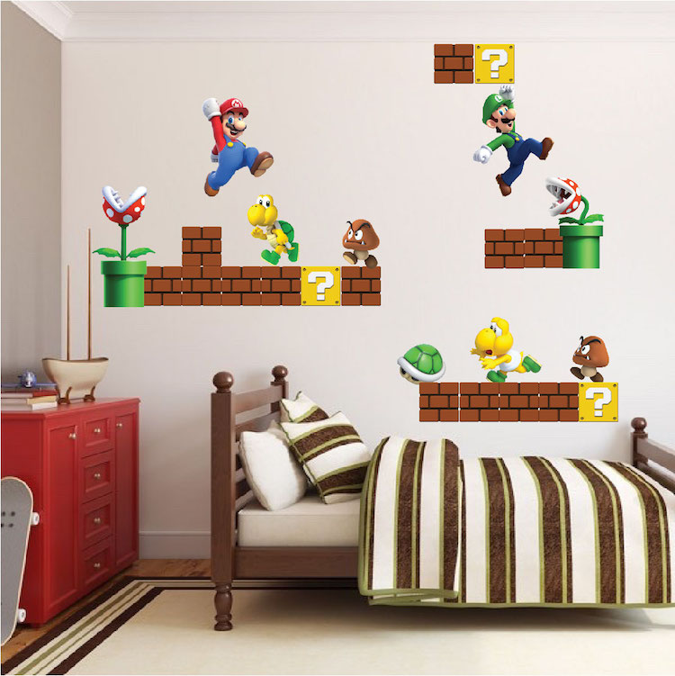Super Mario Bros Wall Decal   Video Game Wall Decal Murals   Primedecals