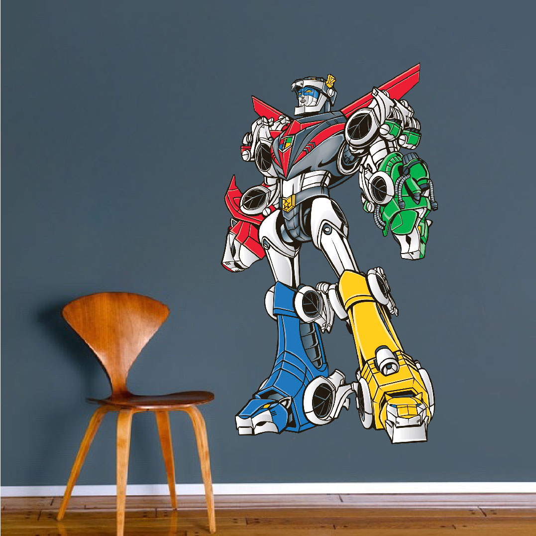 modern pac man wall decal video game wall decal murals primedecals voltron wall mural decal