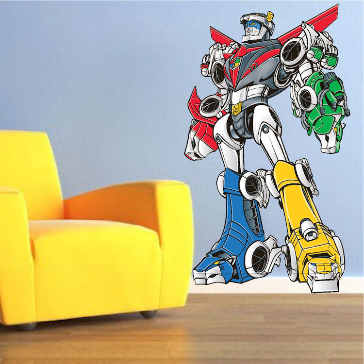 Wall Mural Decal voltron wall decal - boys bedroom murals - primedecals